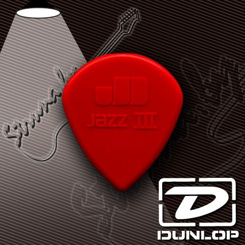 Медиатор Dunlop 47R3N Jazz III Sharp Tip Nylon