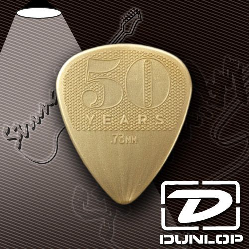 Медиатор Dunlop 4429 50th Anniversary Gold Nylon Pick
