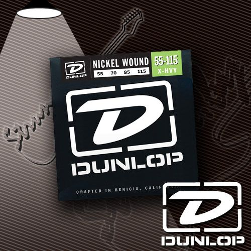 Струны для бас-гитары Dunlop DBN55115 Nickel Wound 55-115