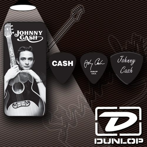Медиатор Dunlop JCPT01M Johnny Cash Memphis Pick Tin (6 шт. в кейсе)